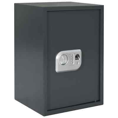 vidaXL Digital Safe with Fingerprint Dark Grey 35x31x50cm Security Safety Box