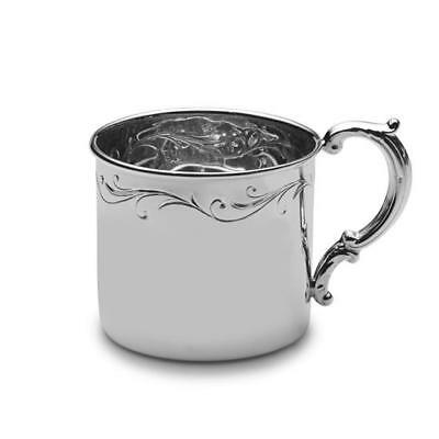 Empire Sterling Silver Floral Baby Cup, New in Box, Made in USA