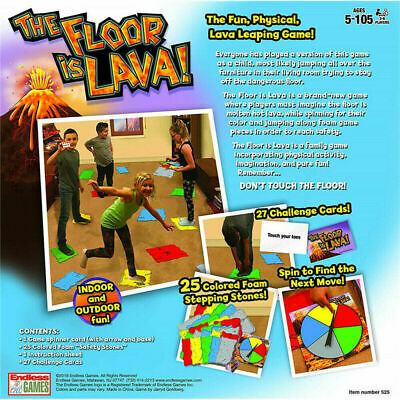 Interactive Board Game The Floor is Lava! for Kids & Adults (Ages 5+) Fun N2Y4Z
