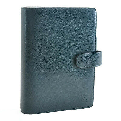 LOUIS VUITTON Taiga Agenda MM Day Planner Cover Epicea R20403 10914