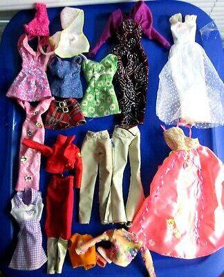 Lot of 20 Pieces Of Genuine Barbie Doll Barbie Sized Clothes Gowns/Baywatch