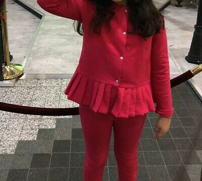 Jacadi Pink Trousers & Cardigan Outfit Age 10 Years