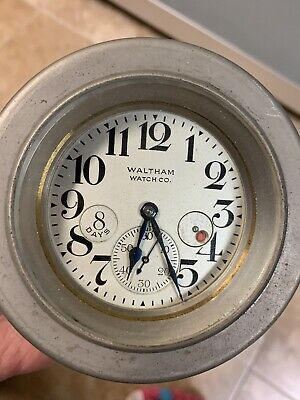 Vintage WALTHAM FOR ROLLS ROYCE Car Clock Rare!!!! WORKING!!! 8 Day Reserve!!!