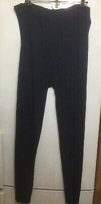 Ladies Maternity Over The Bump Navy New Look Leggings Size L 16/18