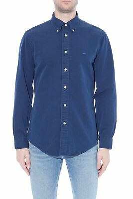 BROOKS BROTHERS - Camicia uomo Regent Fit in cotone indaco