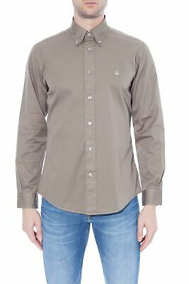 BROOKS BROTHERS - Camicia uomo Regent Fit in twill verde