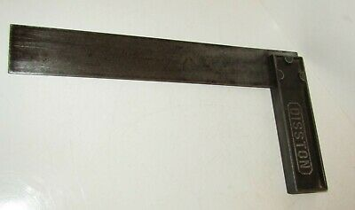 "vintage Henry Disston no 51/5 , 13.75"" Metal  Engineers Set Square /Try Square"