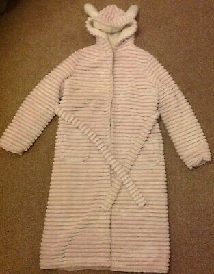 Girls Pink Dressing Gown From M&S Age 13-14 Yrs
