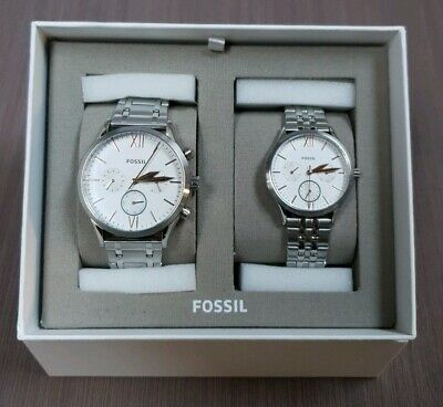Fossil Bq2468Set His And Her Fenmore Multifunction Stainless Steel Watch