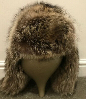 Designer Real Fur  Russian Hat   MUHLBAUER  £485 New From Harrods £155