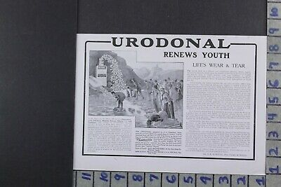 1916 Medical Health Urodonal Medicine Doctor Botal Remedy Ad Dy040