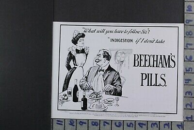 1915 Medical Quack Medicine Beecham Pill Health Kitchen Waitress Ad Dy011