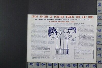 1915 Medical Health Science Astol Grey Hair Dye Aging Remedy Beauty Ad Dy024