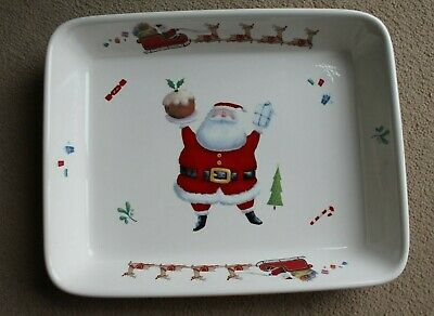 Christmas Paw Prints in the Snow Baking/Serving Dish