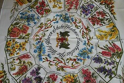 Vintage Australian Flowers Tablecloth