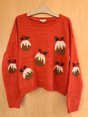 Girls River Island Christmas Pudding Jumper Age 11-12