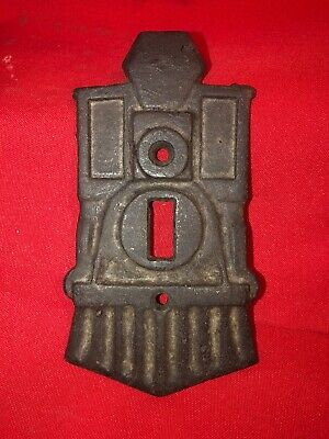 """Train Engine Cast Iron Light Switch Cover """"The Old Switcher Switchplate"""""""