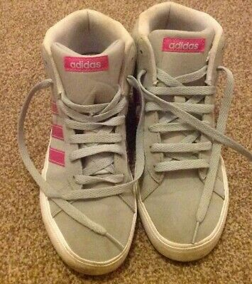 Girls Adidas Neo Hi-Top Trainers Size 5 1/2