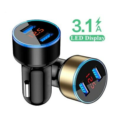 2 USB Port Car Charger Adapter 3.1A For iPhone 4 5 6  7 8 Samsung Huawei Phone