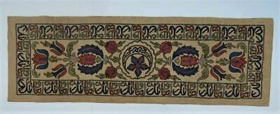 Arts and Crafts Embroidered Table Runner circa 1890