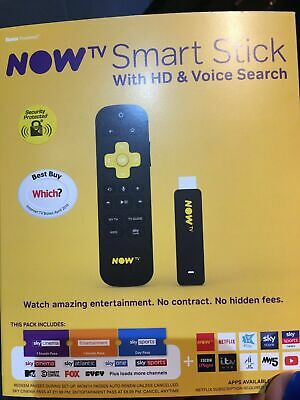 BRAND NEW NOW TV Smart Stick With HD Voice Search -Cinema&Entertainment Package