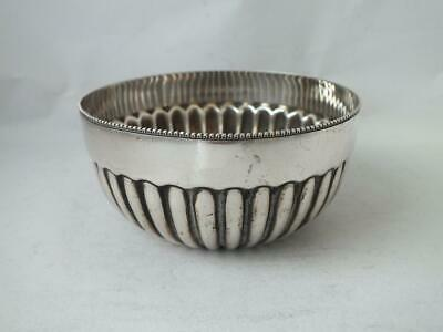 Antique Victorian Solid Sterling Silver Bowl 18887/ Dia 8.1 cm/ 62 g