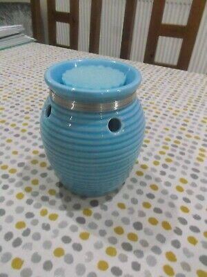 Blue Ceramic Tart Burner Complete With Yankee Tart