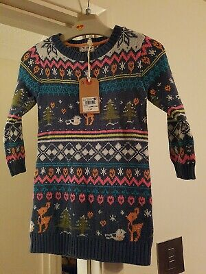 Next Girls Christmas Jumper Dress 1-2 Yrs