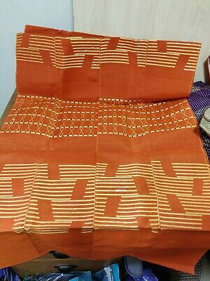 Nigerian Aso Oke Bundle- Orange and Gold