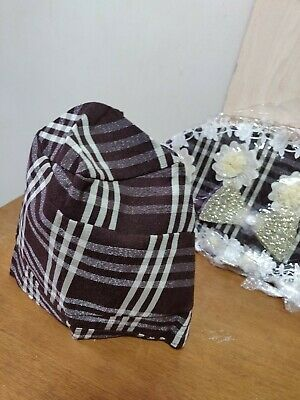 Custom made Nigerian Aso Oke Burberry Pattern