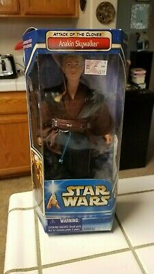 "Star Wars Attack of the Clones Anakin Skywalker 12"" Action Figure Hasbro NEW"