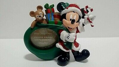 Disney Parks Santa Mickey Photo Frame Christmas Ornament NWT