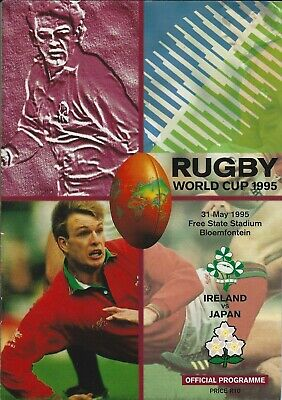 IRELAND v JAPAN 31 May 1995 RUGBY WORLD CUP PROGRAMME
