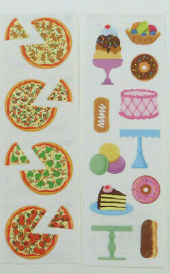 Strip of Misc Frosted Donut Stickers/' Mrs Grossman FROSTED DONUTS