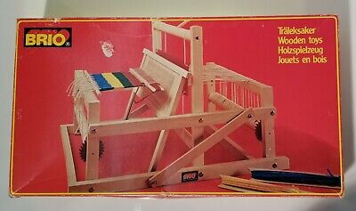BRIO wooden folding WEAVING LOOM 31380 made in SWEDEN *never used in open box