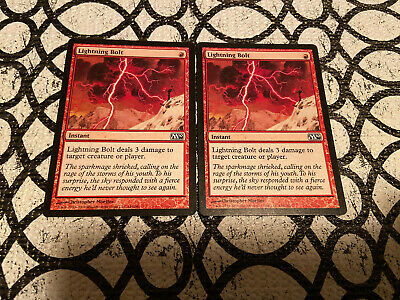 X2 Magic The Gathering Core M10 Lighting Bolt NM MTG X2
