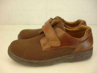 Womens 9.5 W Wide Dr. Comfort Annie X Brown Leather Lycra Stretch Comfort Shoes