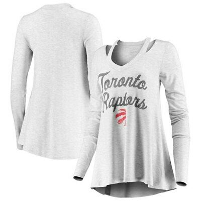 Toronto Raptors Majestic Threads Women's Double Dribble Separation Long Sleeve