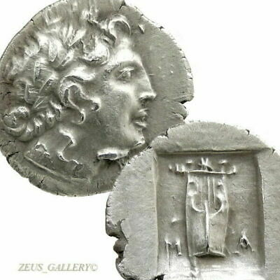 LYCIAN League APOLLO, Lyre 48 BC time of Julius Caesar Ancient Greek Silver Coin