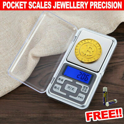 MINI 200g/0.01 DIGITAL POCKET SCALES JEWELLERY PRECISION ELECTRONIC WEIGHT LAB