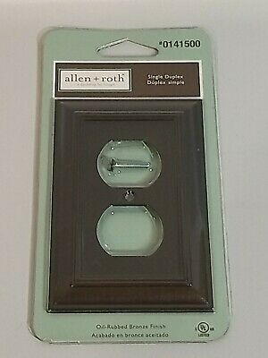 allen + roth Oil-Rubbed Bronze Single Duplex Outlet Cover Plate #0141500
