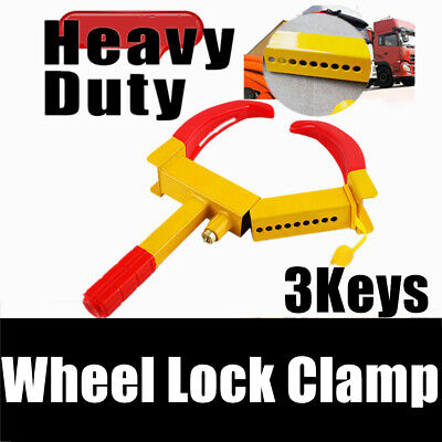 UK Wheel Tyre Tire Lock Clamp Car Truck Towing Anti-Theft Security Safety Lock