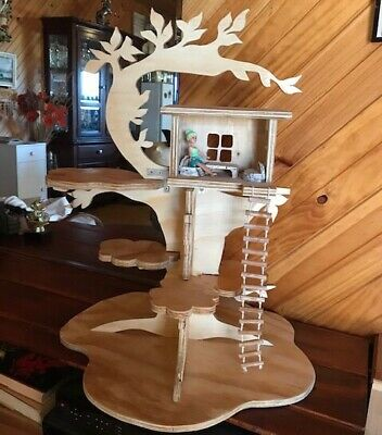 Handmade Wooden Toy Tree House