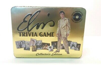 Elvis Trivia Game- Collector's Edition-Used in Tin Box, board game