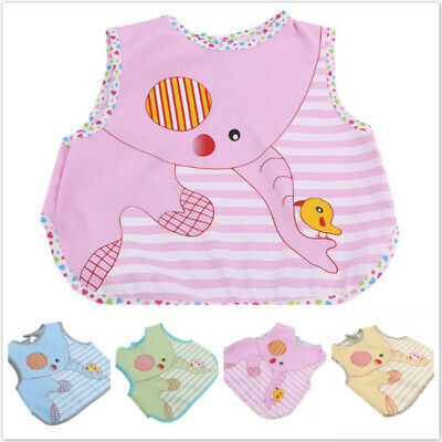 Child's Waterproof sleeveless Bibs Baby Toddler Bibs Feeding Smock Bibs Apron LG