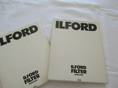 2 x ILFORD SAFELIGHT FILTER 914