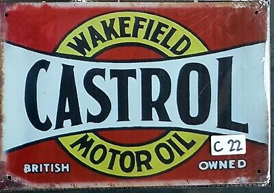 Wakefield Castrol Motor Oil Metal Tin Signs Bar Shed & Man Cave Signs AU Seller