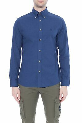 BROOKS BROTHERS - Camicia uomo Regent Fit in flanella blu navy
