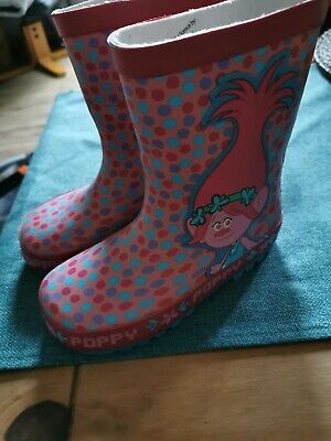 Bnwt Girls Licensed Wellington Boots Pink Size 9