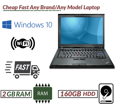 Cheap Fast Laptop intel Core2Duo@2.0Ghz 2GB RAM 160GB HDD Win 10 WiFi Ready